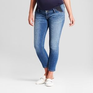 NWT Isabel Maternity Skinny Crop Side Panel Jeans